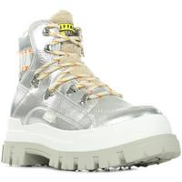 Schuhe Damen Boots Buffalo Aspha NC Fur Silbern