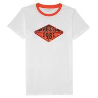 Kleidung Jungen T-Shirts Guess L1GI09-K8HM0-TWHT Weiss