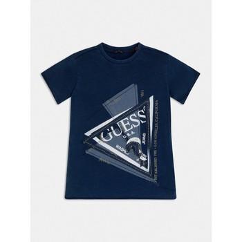 Kleidung Jungen T-Shirts Guess L1RI15-K8GA0-F233 Blau