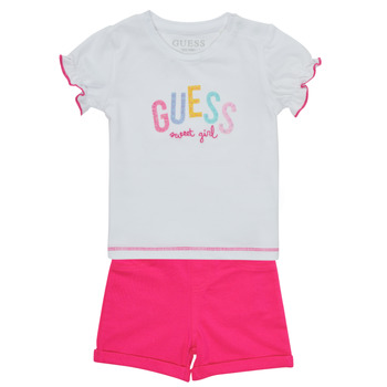 Kleidung Mädchen Kleider & Outfits Guess A1GG07-K6YW1-TWHT Multicolor