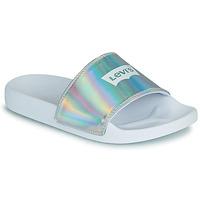 Schuhe Damen Pantoletten Levi's JUNE BATWING S Silbern