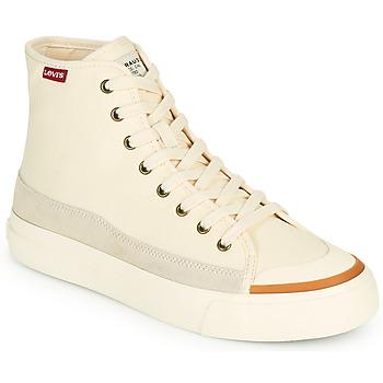 Schuhe Damen Sneaker High Levi's SQUARE HIGH S Weiss