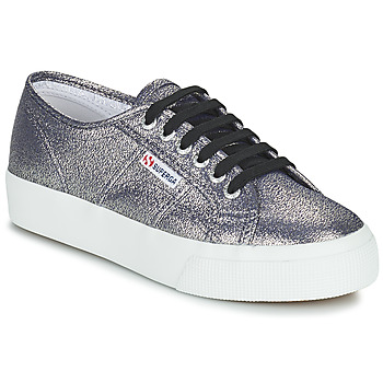 Schuhe Damen Sneaker Low Superga 2730 LAMEW Silbern