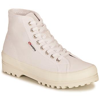 Schuhe Damen Sneaker High Superga 2341 ALPINA COTU Weiss