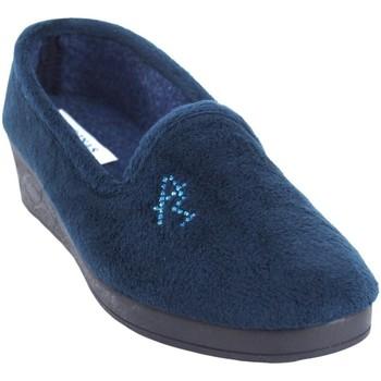 Schuhe Damen Hausschuhe Andinas Geh nach Hause Lady  9270-26 blau Blau