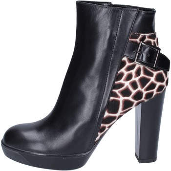 Schuhe Damen Low Boots Hogan BK643 Schwarz