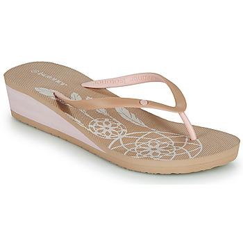 Schuhe Damen Zehensandalen Isotoner FRADA Beige