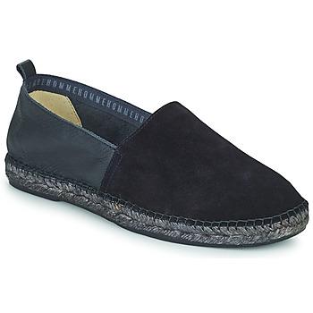 Schuhe Herren Leinen-Pantoletten mit gefloch Selected AJO NEW MIX Marine