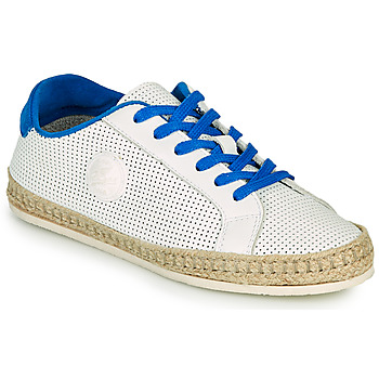 Schuhe Damen Leinen-Pantoletten mit gefloch Pataugas PALOMA F2F Weiss / Blau