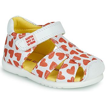 Schuhe Mädchen Sandalen / Sandaletten Agatha Ruiz de la Prada HAPPY Weiss / Rot