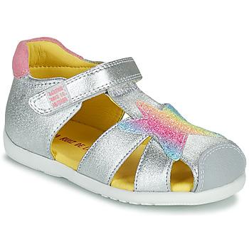 Schuhe Mädchen Sandalen / Sandaletten Agatha Ruiz de la Prada HAPPY Silbern
