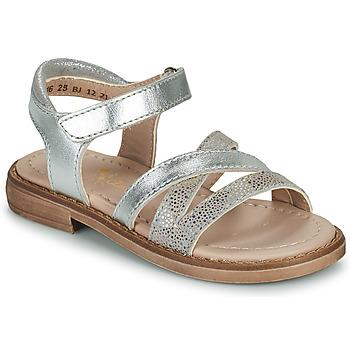 Schuhe Mädchen Sandalen / Sandaletten Aster TESSIA Silbern