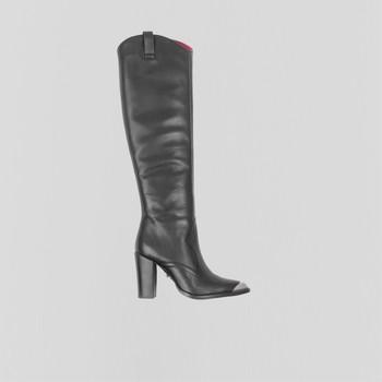 Schuhe Damen Klassische Stiefel Bronx Bottes femme  New-Americana noir