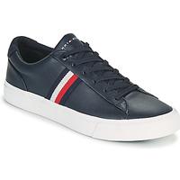 Schuhe Herren Sneaker Low Tommy Hilfiger CORPORATE LEATHER SNEAKER Marine