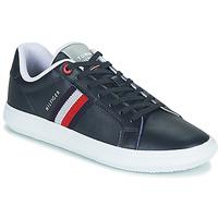 Schuhe Herren Sneaker Low Tommy Hilfiger ESSENTIAL LEATHER CUPSOLE Marine