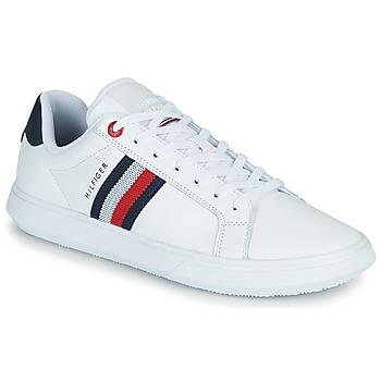Schuhe Herren Sneaker Low Tommy Hilfiger ESSENTIAL LEATHER CUPSOLE Weiss