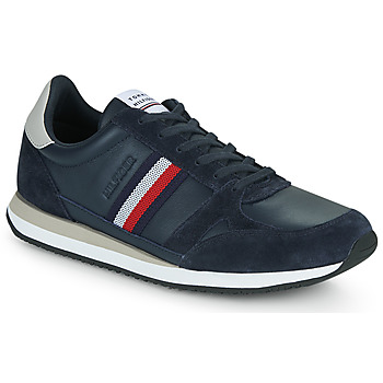 Schuhe Herren Sneaker Low Tommy Hilfiger RUNNER LO LEATHER STRIPES Marine