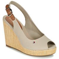 Schuhe Damen Sandalen / Sandaletten Tommy Hilfiger ICONIC ELENA SLING BACK WEDGE Maulwurf