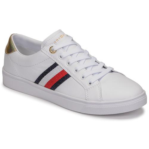 Schuhe Damen Sneaker Low Tommy Hilfiger TH CORPORATE CUPSOLE SNEAKER Weiss