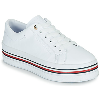 Schuhe Damen Sneaker Low Tommy Hilfiger CORPORATE FLATFORM CUPSOLE Weiss