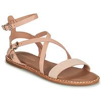 Schuhe Damen Sandalen / Sandaletten Tommy Hilfiger ESSENTIAL TOMMY FLAT SANDAL Cognac