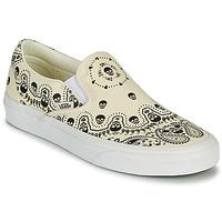 Schuhe Slip on Vans CLASSIC SLIP ON Beige / Schwarz