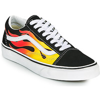 Schuhe Sneaker Low Vans OLD SKOOL Schwarz / Orange