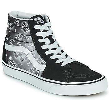 Schuhe Damen Sneaker High Vans SK8 HI Schwarz / Weiss