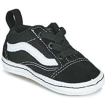 Schuhe Kinder Sneaker Low Vans OLD SKOOL CRIB Schwarz / Weiss