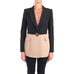 Kleidung Damen Jacken / Blazers Simona Corsellini A20CPGI006 Blazer Damen Schwarz / Beige Schwarz / Beige