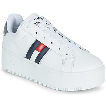 Schuhe Damen Sneaker Low Tommy Jeans IRIDESCENT ICONIC SNEAKER Weiss