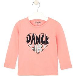 Kleidung Kinder T-Shirts & Poloshirts Losan 026-1632AL Rosa