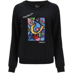 Kleidung Damen Sweatshirts Freddy F0WBRS4 Schwarz