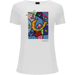 Kleidung Damen T-Shirts & Poloshirts Freddy F0WBRT1 Weiß