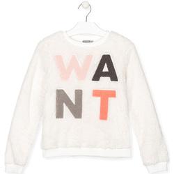 Kleidung Kinder Sweatshirts Losan 024-6021AL Weiß