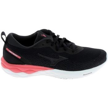 Schuhe Laufschuhe Mizuno Wave Revolt Noir Schwarz