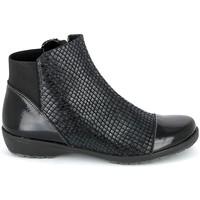 Schuhe Damen Boots Boissy 8081 Noir Schwarz