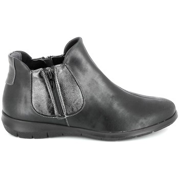 Schuhe Damen Boots Boissy 66000 Noir Schwarz