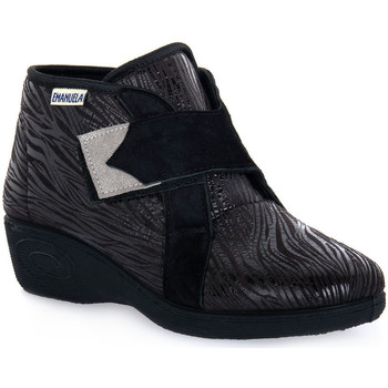 Schuhe Damen Sneaker High Emanuela 2302 VOX NERO Nero