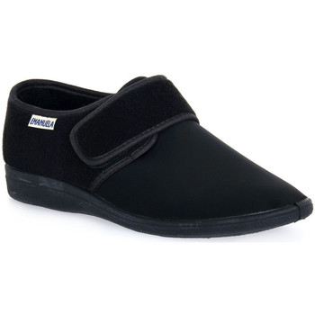 Schuhe Herren Hausschuhe Emanuela 985 NERO PANTOFOLA Nero