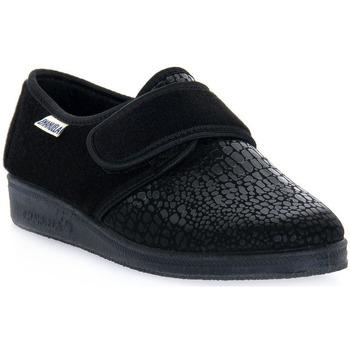Schuhe Herren Hausschuhe Emanuela 608 NERO PANTOFOLA Nero