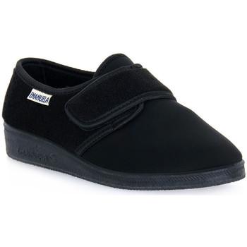 Schuhe Herren Hausschuhe Emanuela 601 NERO PANTOFOLA Nero