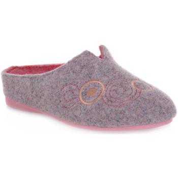 Schuhe Damen Hausschuhe Emanuela 1527 DOUBLE ROSA Rosa