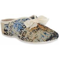 Schuhe Damen Hausschuhe Emanuela 2900 GOBE 320 Grigio