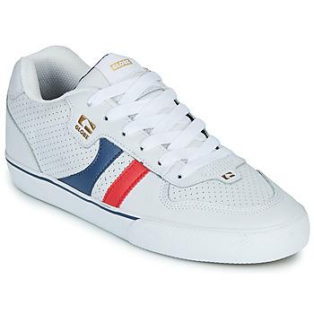 Schuhe Herren Sneaker Low Globe ENCORE-2 Weiss / Blau / Rot