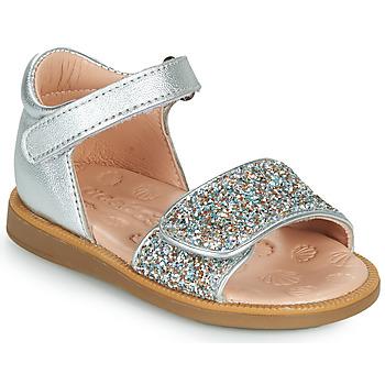 Schuhe Mädchen Sandalen / Sandaletten Acebo's 1232-PLATA Silbern