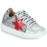 Schuhe Mädchen Sneaker Low Acebo's 5461GL-PLATA-J Silbern
