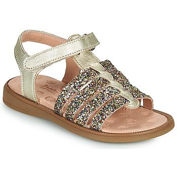 Schuhe Mädchen Sandalen / Sandaletten Acebo's 5498GE-PLATINO-J Gold