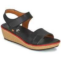 Schuhe Damen Sandalen / Sandaletten Art CAPRI Schwarz