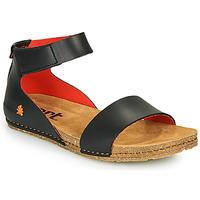 Schuhe Damen Sandalen / Sandaletten Art CRETA Schwarz / Rot